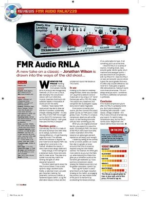 Future Music FMR Audio RNLA