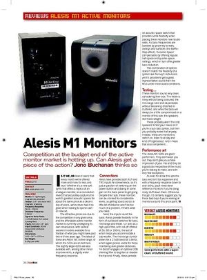 Future Music Alesis M1 Monitors