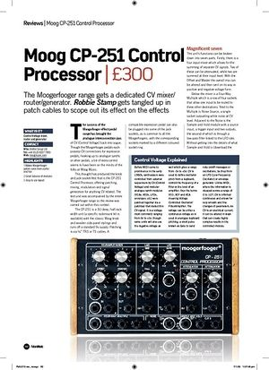 Future Music Moog CP251 Control Processor