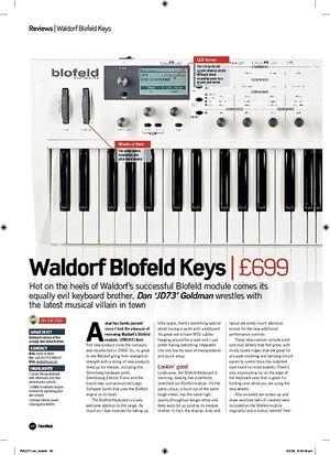 Future Music Waldorf Blofeld Keys