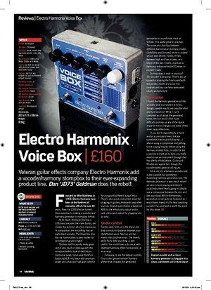 Future Music Electro Harmonix Voice Box