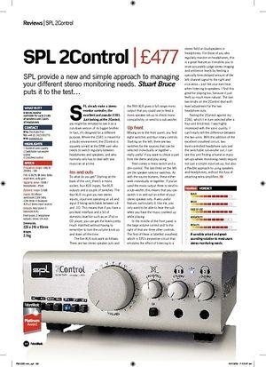 Future Music SPL 2Control