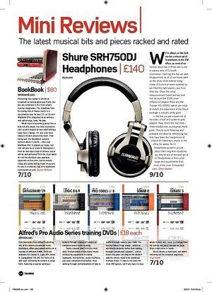 Future Music Shure SRH750DJ Headphones