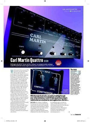 Guitarist Carl Martin Quattro