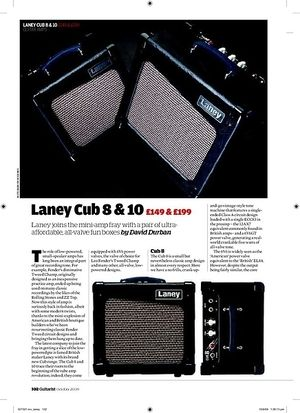 Guitarist Laney Cub 8