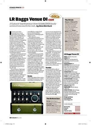 Guitarist LR Baggs Venue DI