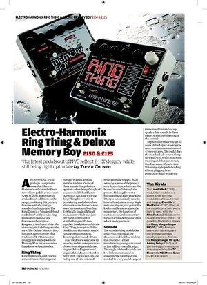Guitarist ElectroHarmonix Deluxe Memory Boy