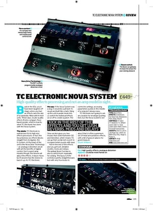 Total Guitar TC Electronic Nova System