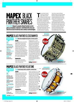 Rhythm MAPEX BLACK PANTHER BLACK WIDOW
