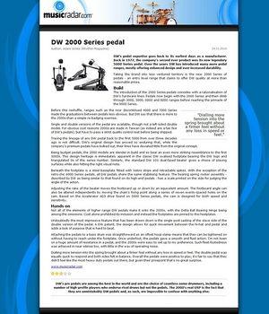 MusicRadar.com DW 2000 Series pedal