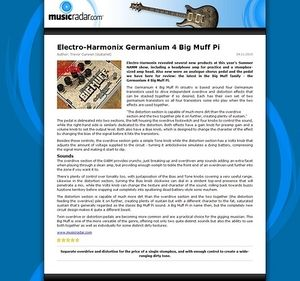 MusicRadar.com Electro-Harmonix Germanium 4 Big Muff Pi