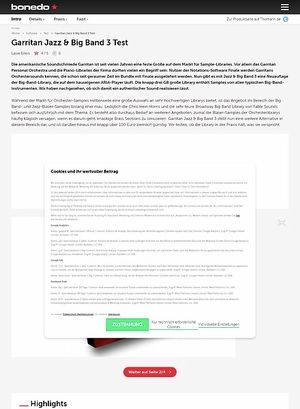 Bonedo.de Garritan Jazz & Big Band 3