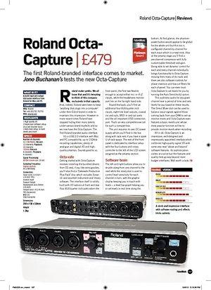 Future Music Roland Octa-Capture