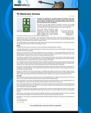 MusicRadar.com TC Electronic Corona