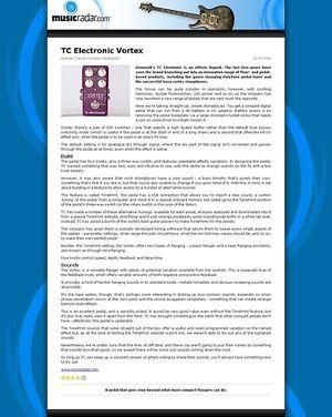 MusicRadar.com TC Electronic Vortex