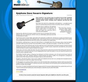 MusicRadar.com Epiphone Dave Navarro Signature