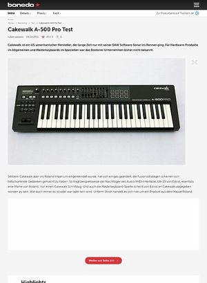 Roland a 500 pro midi keyboard controller for 3 cakewalk terrace