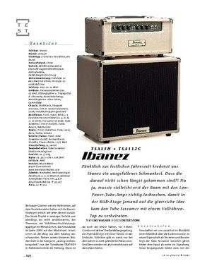 Gitarre & Bass Ibanez TSA15H + TSA112C, Tube-Stack
