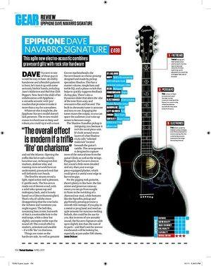 Total Guitar Epiphone Dave Navarro Signature