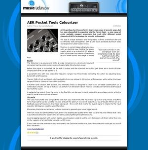 MusicRadar.com AER Pocket Tools Colourizer