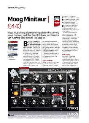 Future Music Moog Minitaur
