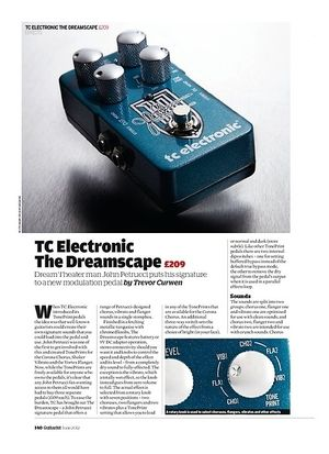 Guitarist TC Electronic The Dreamscape