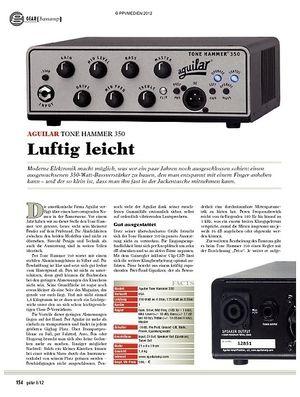 Guitar gear Bassamp - Aguilar Tone Hammer 350