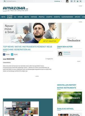 Amazona.de Top News: Native Instruments kündigt neue MASCHINE-Generation an