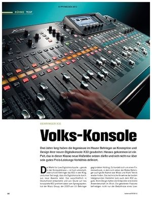 Tastenwelt Test: Behringer X32 - Volks-Konsole