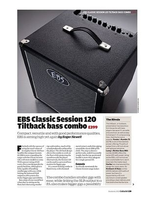 Guitarist EBS Classic Session 120 Tiltback bass combo Classic Session 120 Tiltback bass combo