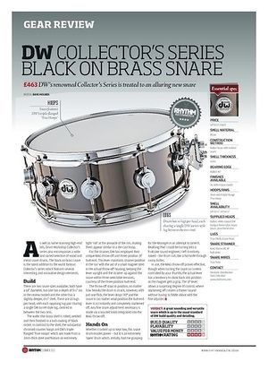 Rhythm DW COLLECTOR'S SERIES BLACK ON BRASS SNARE