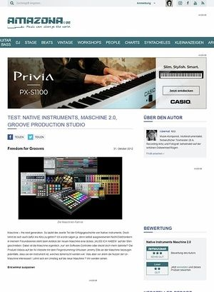 Amazona.de Test: Native Instruments, Maschine 2.0,  Groove Production Studio