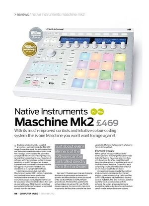 Computer Music Native Instruments Maschine Mk2