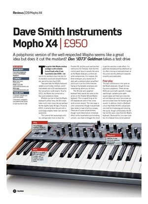 Future Music Dave Smith Instruments Mopho X4