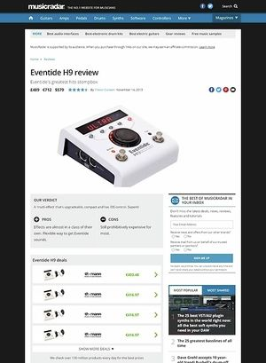 MusicRadar.com Eventide H9
