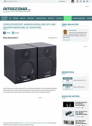 Amazona.de Vergleichstest: Samson Media One BT4 und Samson Media One 4a, Monitore