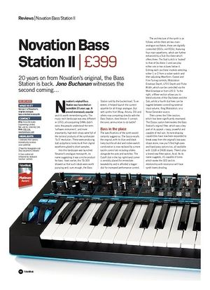 Future Music Novation Bass Station II