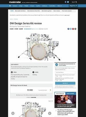 MusicRadar.com DW Design Series Kit