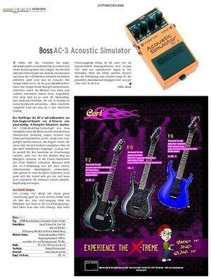 Guitar Test: Boss AC-3 Acoustic Simulator