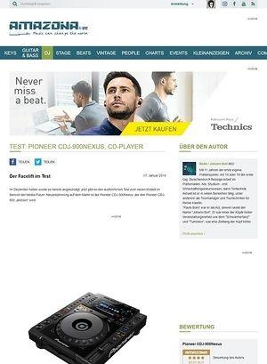 Amazona.de Test: Pioneer CDJ-900Nexus, CD-Player