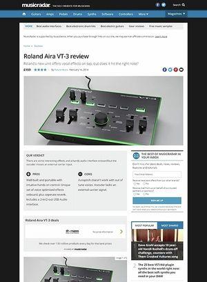 MusicRadar.com Roland Aira VT-3