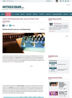 Amazona.de Test: Strymon Big Sky, Effektgerät für Gitarre