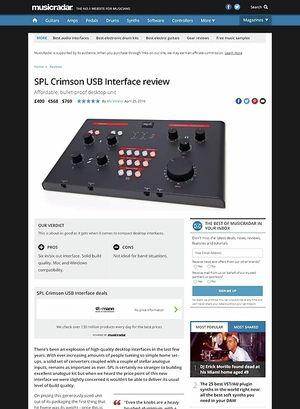 MusicRadar.com SPL Crimson