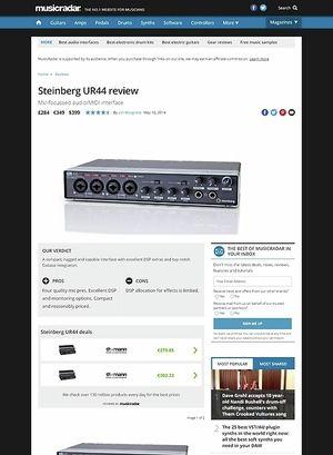 MusicRadar.com Steinberg UR44