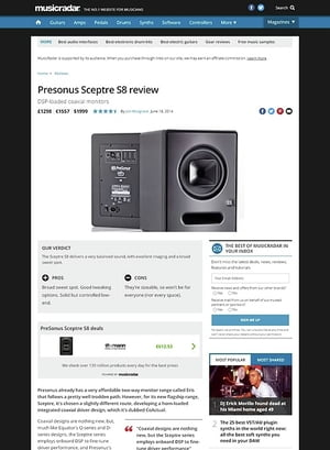 MusicRadar.com Presonus Sceptre S8