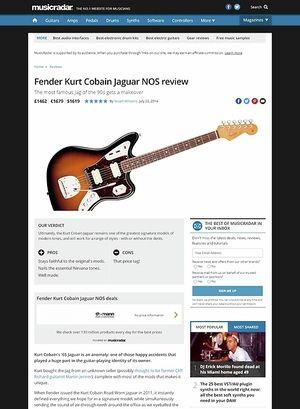 MusicRadar.com Fender Kurt Cobain Jaguar NOS
