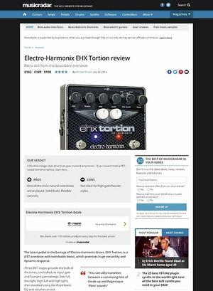 MusicRadar.com Electro-Harmonix Tortion