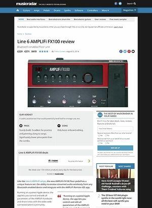 MusicRadar.com Line 6 AMPLIFi FX100