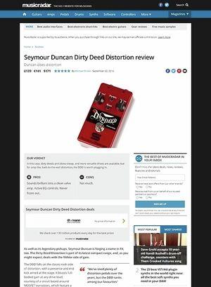 MusicRadar.com Seymour Duncan Dirty Deed Distortion