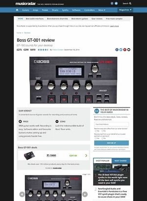 MusicRadar.com Boss GT-001